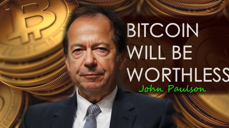 Billionaire John Paulson  Calls Bitcoin worthless And He Will never Recommend it to Anyone